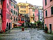 Cinque Terre Posters - Rainy Afternoon in Vernazza Poster by Lynn Andrews