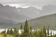 Bo Insogna Framed Prints - Rainy Colorado Rocky Mountain Summer View Framed Print by James Bo Insogna
