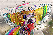Raining Mixed Media Prints - Rainy Day Clown Print by Steve Ohlsen