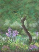 Garden Pastels Originals - Rainy Day Garden by Julie Mayser