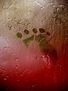 Rainy Day Hand Fist Footprint Print by Anna Lisa Yoder