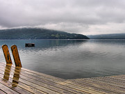 Landscape Photograph Photos - Rainy Day Keuka by Steven Ainsworth