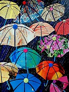 Award Winning Painting Originals - Rainy Day Personalities by Susan DeLain