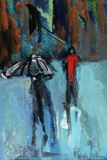 Figures Mixed Media - Rainy Day by Pippi Johnson