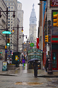 Center City Prints - Rainy Days and Sundays Print by Bill Cannon