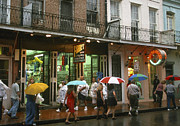 Rain Digital Art Framed Prints - Rainy Evening on Bourbon Street  Framed Print by Thomas R Fletcher