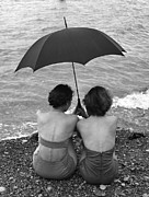Mid Adult Women Posters - Rainy Holiday Poster by John Chillingworth