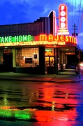Advertising Photographer Atlanta Framed Prints - Rainy Night at The Majestic Grill Framed Print by Corky Willis Atlanta Photography