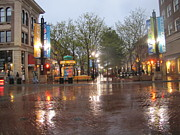 Rainy Night In Boulder Print by Shawn Hughes