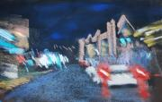 Night Pastels - Rainy Night in Newport by Sandra Ortega