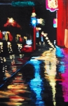 Nightime Paintings - Rainy Night by Lauren Luna