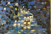 City Scape Paintings - Rainy Nights by Randy Conard