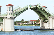 Florida Bridge Photo Metal Prints - Raised Bridge Metal Print by Kenneth Albin
