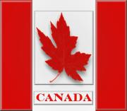 Oil Pastel Digital Art - Raised Surface Canada Flag Unofficial by Garry Staranchuk