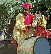 Drum Horse Photos - Rajasthan India Puppeteer by Kantilal Patel