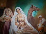 Usha Rai Art - Rajasthani Beauties by Usha Rai