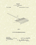 Garden Drawings - Rake Design 1897 Patent Art by Prior Art Design