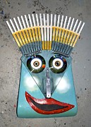 Wall Mask Mixed Media - Rake Man by Bill  Thomson