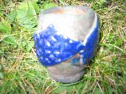 Pattern Ceramics Prints - Raku pinch pot Print by Julia Van Dine