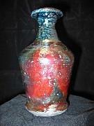 Featured Ceramics - Raku Vase Small by Michael Anthony-Nagy