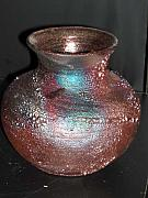 Mixed Ceramics - Raku vase by The Joppa Crew