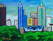 Center City Originals - Raleigh Skyline 3 by Tommy Midyette