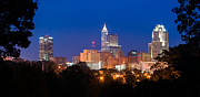 Artist With Camera Prints - Raleigh Skyline Print by Joye Ardyn Durham