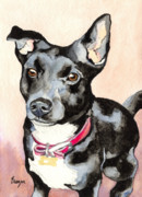 Custom Dog Portrait Paintings - Ralf by Brazen Edwards