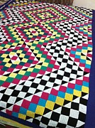 Patchwork Quilts Tapestries - Textiles Originals - Ralli  by Sidra