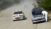 Race Drivers Photos - Rally Car Reality by Al Bourassa