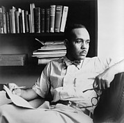 African-americans Posters - Ralph Ellison 1914-1994, Author Poster by Everett