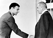 Critic Prints - Ralph Nader, Shakes Hands Print by Everett