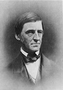 Waldo Posters - Ralph Waldo Emerson 1803-82 , American Poster by Everett