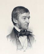 Waldo Posters - Ralph Waldo Emerson 1803-82 Writer Who Poster by Everett