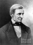 Ralph Framed Prints - Ralph Waldo Emerson, American Author Framed Print by Photo Researchers