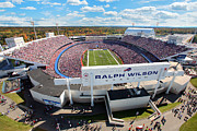 New York Stadiums Prints - Ralph Wilson Stadium Print by Anthony Salerno
