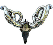 Goat Sculptures - Ram Auto Antlers 8 Point by TRUEGEARHEAD Team