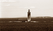Maine Lighthouses Photo Posters - Ram Island Ledge Lighthouse Poster by Skip Willits