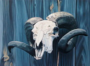 Died Originals - Ram skull by Willie Leavy