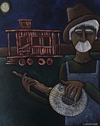 Old Caboose Painting Posters - Ramblin Man Poster by Stefanie Beauregard