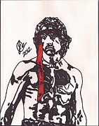 Sylvester Stallone Drawings - Rambo First Blood Part II by Jeremiah Colley