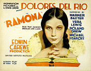 Dolores Photo Posters - Ramona, Dolores Del Rio, 1928 Poster by Everett