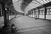 Listed Building Framed Prints - Ramp Down To The Rothesay Ferry Terminal In Weymss Bay Railway Station Scotland Uk Framed Print by Joe Fox
