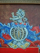 Family Coat Of Arms Art - Rampart Lion by Nancy Rutland