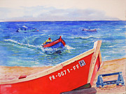 Sea Shore Prints Painting Originals - Rampeando II by Estela Robles
