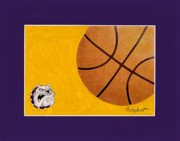 Basketball Paintings - Ranburn Lady Bulldogs Basketball by Herb Strobino
