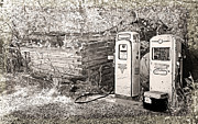 Lenore Senior Photos - Ranch Gas Pumps by Lenore Senior and Dawn Senior-Trask
