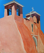 Taos Mixed Media Posters - Rancho de Taos Poster by Wayne Devon