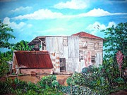 Puerto Rico Painting Metal Prints - Rancho Viejo Metal Print by Jose Lugo