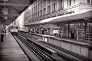 Line Photo Posters - Randolph Street Station Chicago Poster by Steve Gadomski